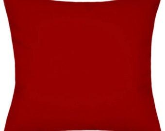 Sunbrella Canvas Jockey Red Indoor/Outdoor Solid Pillow