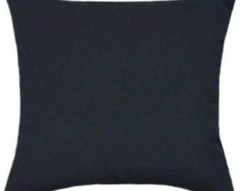 Sunbrella Canvas Black Indoor/Outdoor Solid Pillow