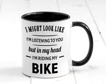 In My Head I m Riding My Bike Mug 06023c507