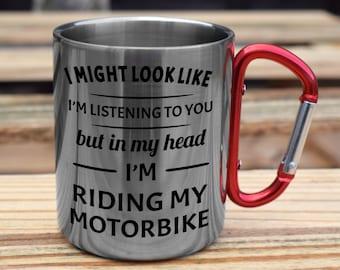 I/'M RIDING MY MOTORBIKE Novelty//Funny Printed Coffee//Tea Mug Gift//Present O690