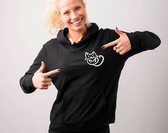 Cat Pocket Hoodie, Cat Owner, Crazy Cat Lady Hoodies, Cute Cat Hoodies, Cat Lover, Kawaii Sweatshirt