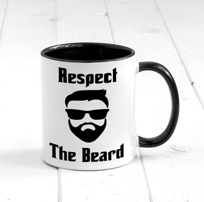 a3569517499 Respect The Beard Mug, Coffee Mug, Funny Beard Mug, Beard Gifts, Gift For  Dad, Beard Gift Mug