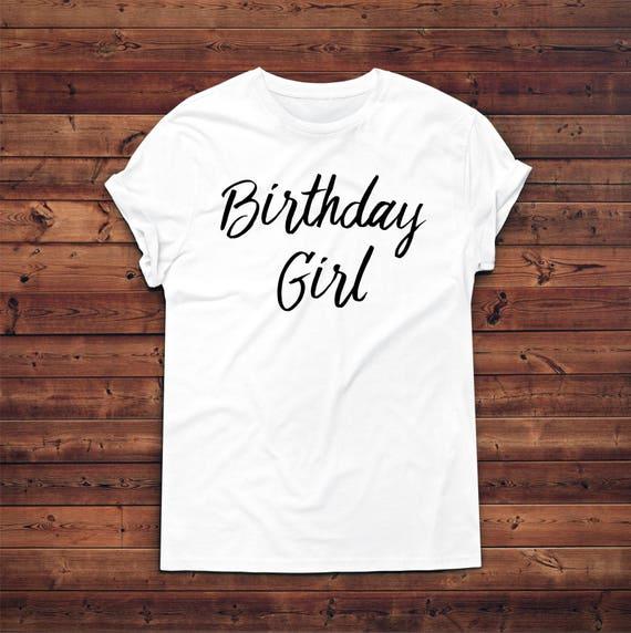 Anniversaire fille T-shirt, T-shirt, fille T-shirts de cadeau d'anniversaire, cadeau d'anniversaire, cadeau pour anniversaire, cadeau pour elle, T-shirt ras du cou unisexe a2dbd3