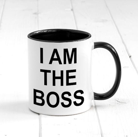 Ik Ben De Baas Mok Grappige Koffiemok Als Cadeau Voor Baas Koffiemok Office Gift Werk Mok Boss Mok