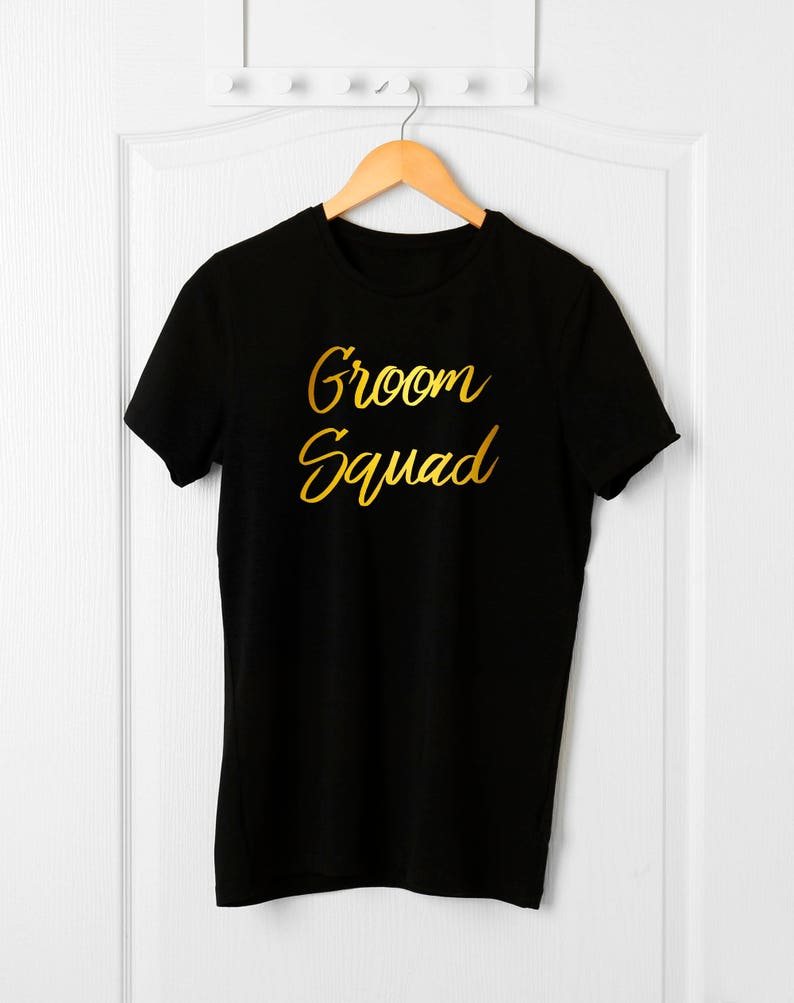 71a8e2c48 Groom Squad T-shirt Stag Party Bride and Groom Shirts Team   Etsy