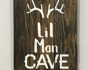 boy's room sign / little man cave sign / Rustic boys room sign / boys room decor / reclaimed Wood sign for boys room