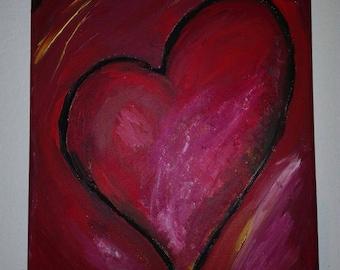 Acrylic/painting/romantic/Heart/Love/painting/art