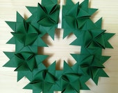 Winter wreath made of 8 moravian paper stars, beautiful door and wall decor for winter, wreath in many colors available