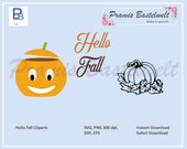 Pumpkin SVG cut file, pumpkin vector clipart bundle, hello fall cricut svg bundle