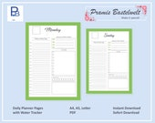 Undated daily planner in A4, A5 and Letter Size, Instant Download! Explore Now!
