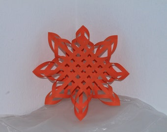Wall snowflake, winter decoration, home decoration, 3d snowflake, ornament
