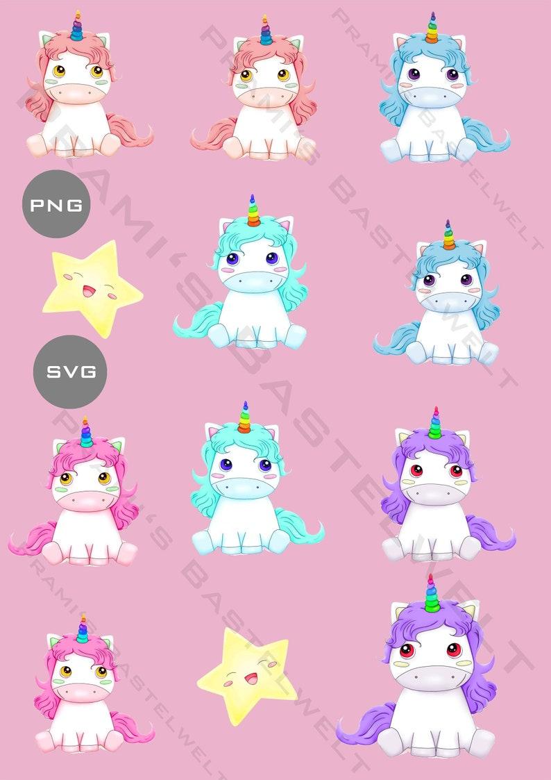 Unicorn Cliparts Magical Clip Art Unicorn Bundle SVG image 0
