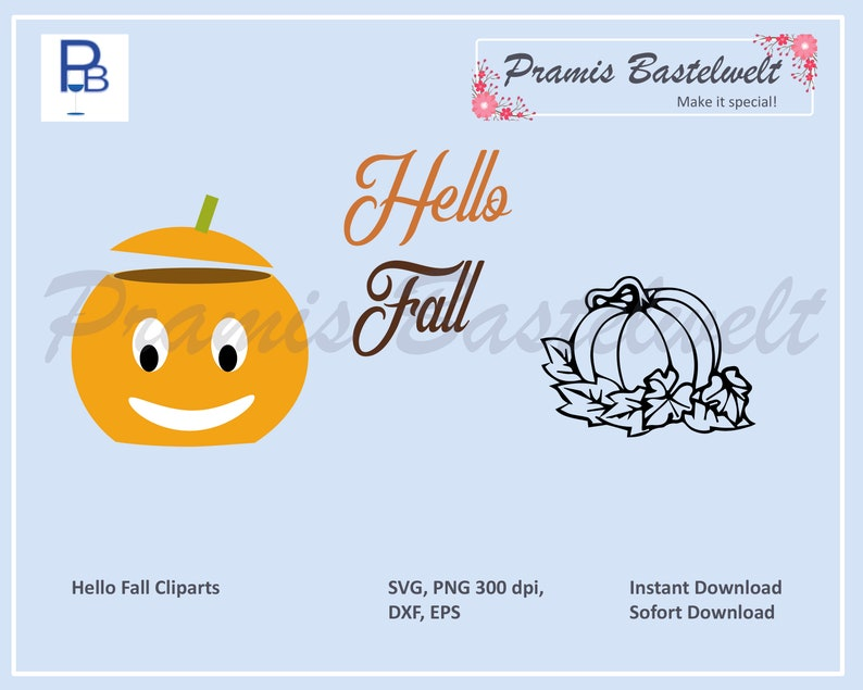 Pumpkin SVG cut file pumpkin vector clipart bundle hello image 0
