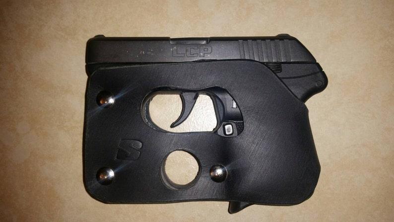 Ruger LCP 380/ Kel-Tec P3AT 380 / Kel-Tec P32 black leather shoot thru  pocket holster concealed carry