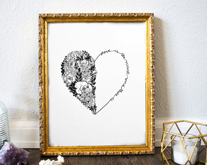 ART PRINT 'Love Is The Nicest Word There Is' Illustration