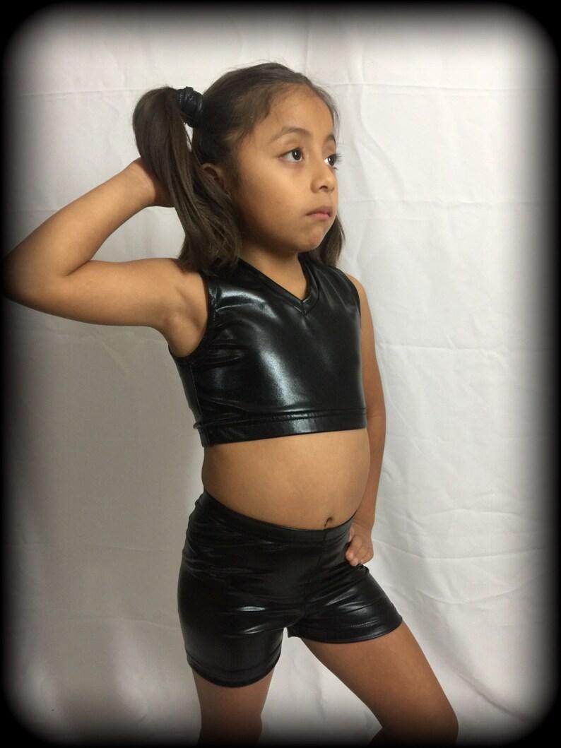 661cd116ef Short crop top black for little girls