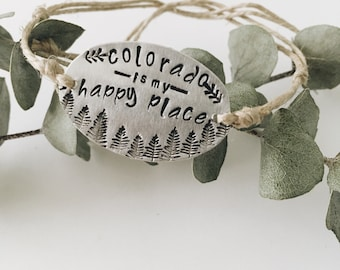 Colorado bracelet, hemp bracelet, colorado jewelry, Rocky Mountain jewelry, wish bracelet, hemp wish bracelet