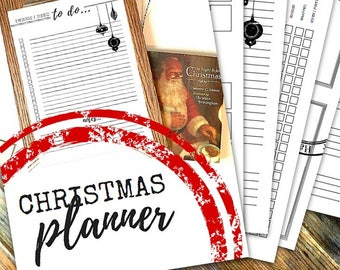 CHRISTMAS PLANNER PRINTABLES - Printable planner - Instant Download - 100 page pdf in A4 and Letter sizes - Sun/Mon start - Undated