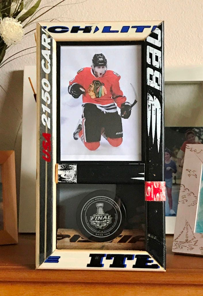 Picture and Puck Display 5 x 7 Made using real hockey sticks | Etsy