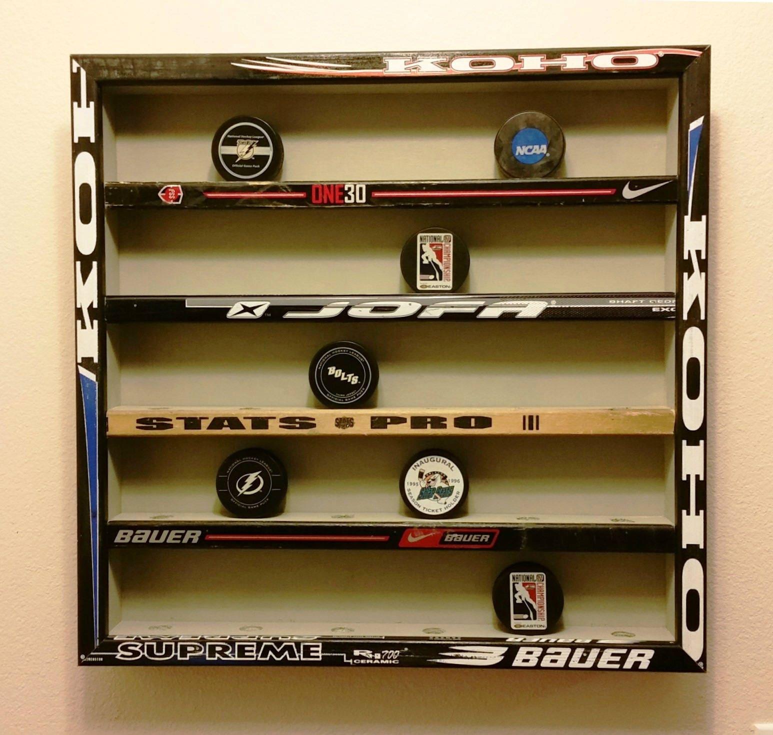 Hockey Puck Vitrine hält 30 Pucks Hockeyschläger Hockey