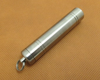 Sealed Titanium Alloy Waterproof Canister Seals Capsule Bottle EDC Outdoor Tool No Rust