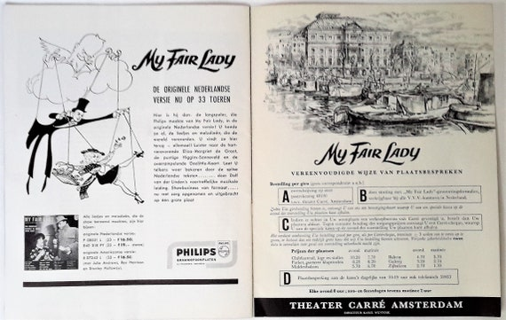Legendary My Fair Lady Musical Dutch 1961 Shaw Pygmalion Etsy