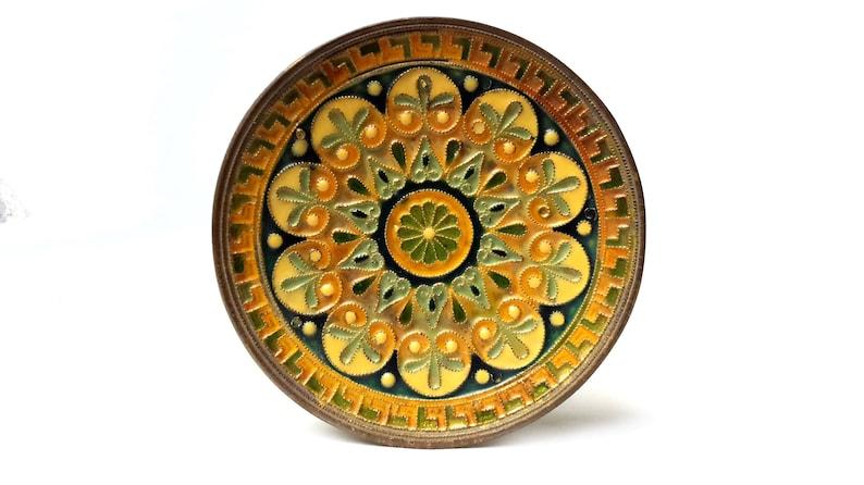 Tile Majolica Flowerpot Miniature Vintage England Collectibles Ceramic Porcelain By Scientific Process Decorative Arts