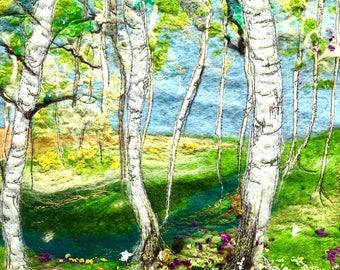 Set of 5 landscape cards.