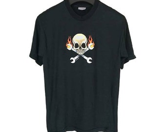 Vintage 90s Skull And Tools T Shirt/Band/Tour/Rock