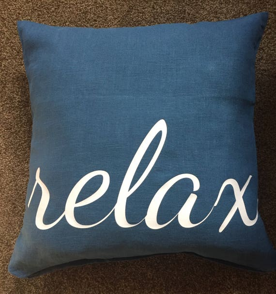Blue Decorative Pillows Retirement Gift Relax Pillow Etsy Amazing Relax Decorative Pillow