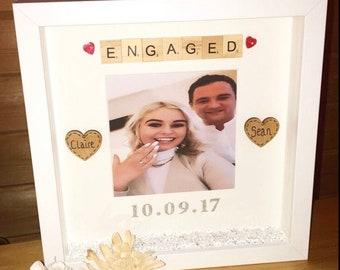 Personalised Engagement Frame | Engagement Frame | Engagement Gift | Personalised Box Frame | Couples Gift | Engaged gift | Engagement |