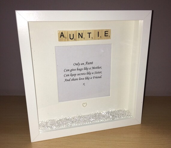 Auntie photo frame auntie quote frame gift for aunt aunt | Etsy