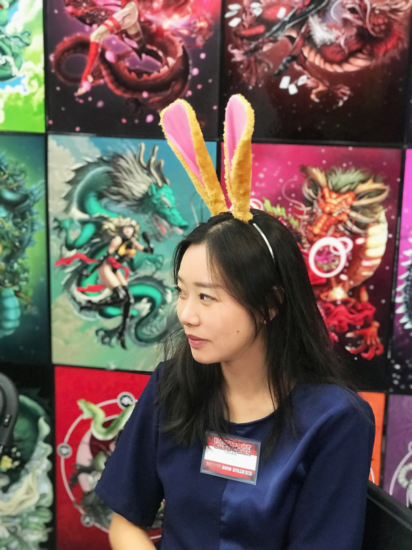 Pink Rabbit Ears Bunny Ears Short fur Cosplay Animal Furry Costume Halloween Easter NALUMI