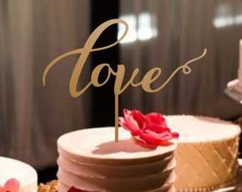 Cake Topper Love.Wedding Cake Topper Love.