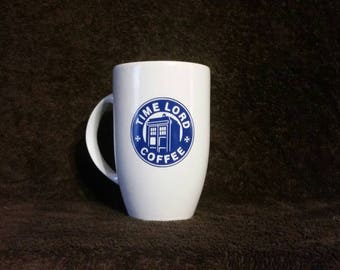 16oz Doctor Who Inspired Starbucks TimeLord Coffee Oversized Latte Mug