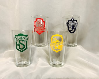 Harry Potter Houses Inspired 16oz GlassTumblers