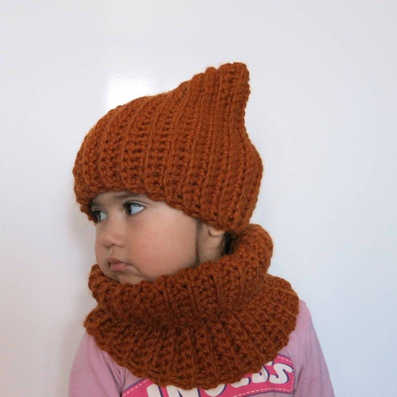 e33dc59511e Bonnet enfant bonnet fille au crochet écharpe chapeau kit