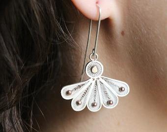 """""""Peacock"""" earrings"""