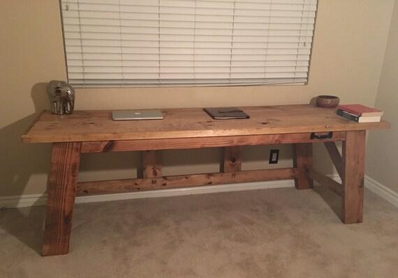 Bureau tréteaux bois sur mesure bureau bois ferme bureau etsy