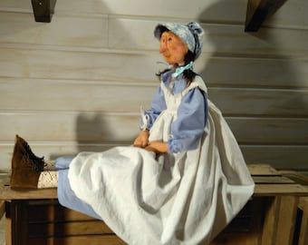 Primitive Doll - Handmade Doll - Primitive - Rustic - Art Doll - Collectible Doll - Pioneer Doll - Decor - Unique Doll - Farmhouse - Faap