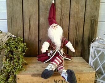 Scandinavian Style - Christmas Elf - Christmas - Primitive - Rustic - Santa Claus - Santa - Elf - Handmade Doll - Christmas Decor - Faap -
