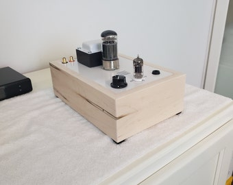 Bottlehead Crack 1.1 OTL Headphone Amplifier with Speedball Upgrade REAL Wood Ambrosia Maple White Gloss Top - Service Price Only