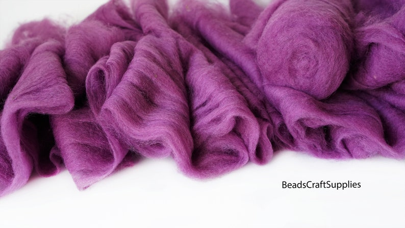 4008 Wool For Nuno Felting Craft Project Needlecraft Fiber Art Supply Bright Color Assortment 100/% Natural Roving Extra Fine Felting Wool