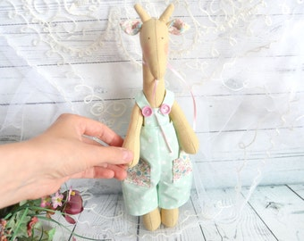Giraffe Tilda-Baby Giraffe-Giraffe toy- Gift for children - Fabric  Giraffe-Toy for little children for girl boy birthday gift baby shower