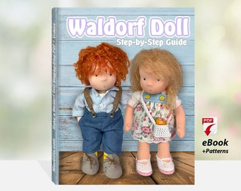 Waldorf Doll Step-by-Step Guide + PDF Patterns | Waldorfpuppe anleitung | Cloth Doll Pattern | Fabric Doll Instructions