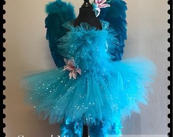 Rio Jewel Blue Macaw bird tutu dress costume
