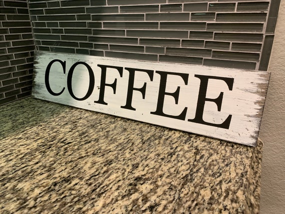 Coffee Sign Wooden Coffee Sign Kitchen Decor Kitchen Sign Coffee Signs Coffee Bar Sign