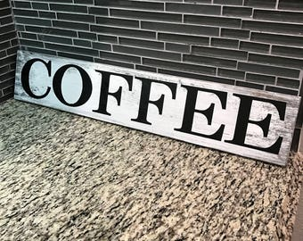 COFFEE sign! wooden sign, kitchen decor, wooden coffee sign