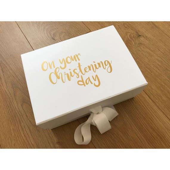 Taufe Geschenk Box Taufe Geschenk Personalisierte Taufe Geschenk Für Baby Taufe Geschenk Personalisierte Geschenk Box