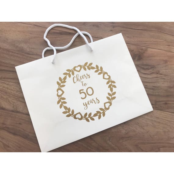 Bespoket Bag Gift For 50th Birthday Golden Wedding